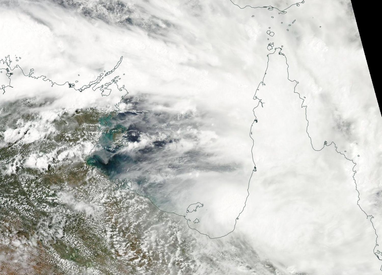 On mar 16 2016 nasa s aqua satellite captured this visible image of