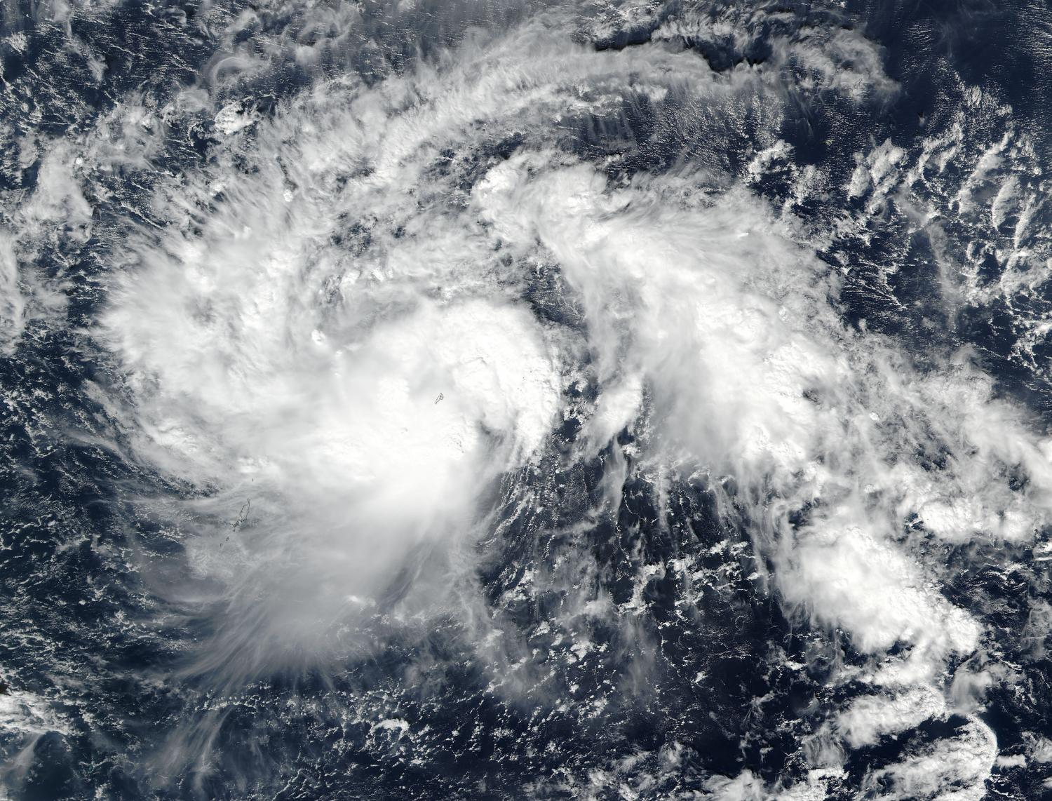 NASA spots Tropical Storm Nock-ten intensify