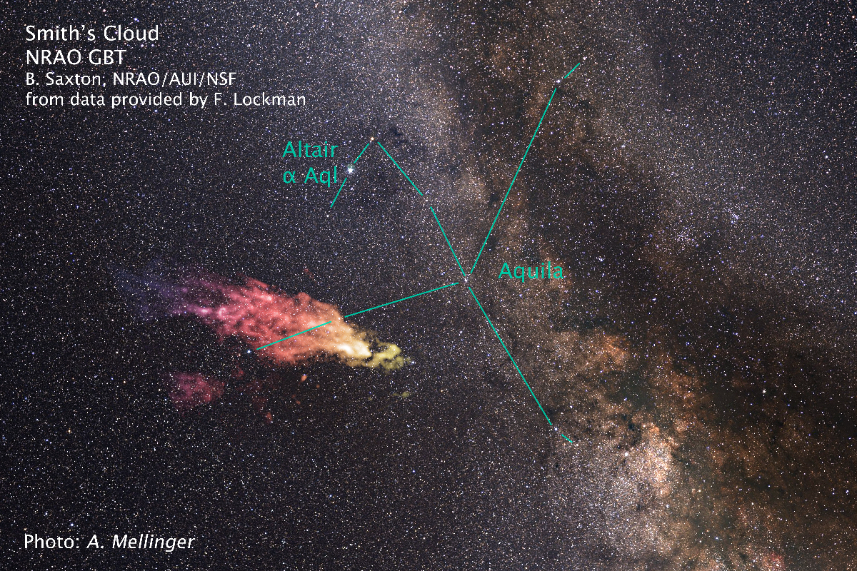 Smith Cloud is making way back to Milky Way