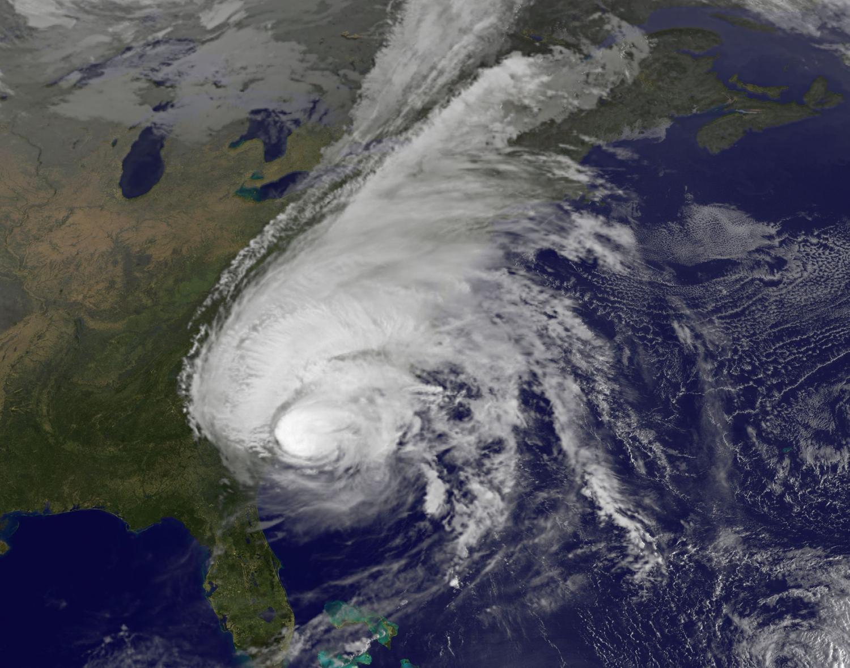 Satellites see Hurricane Matthew's center near coastal South Carolina