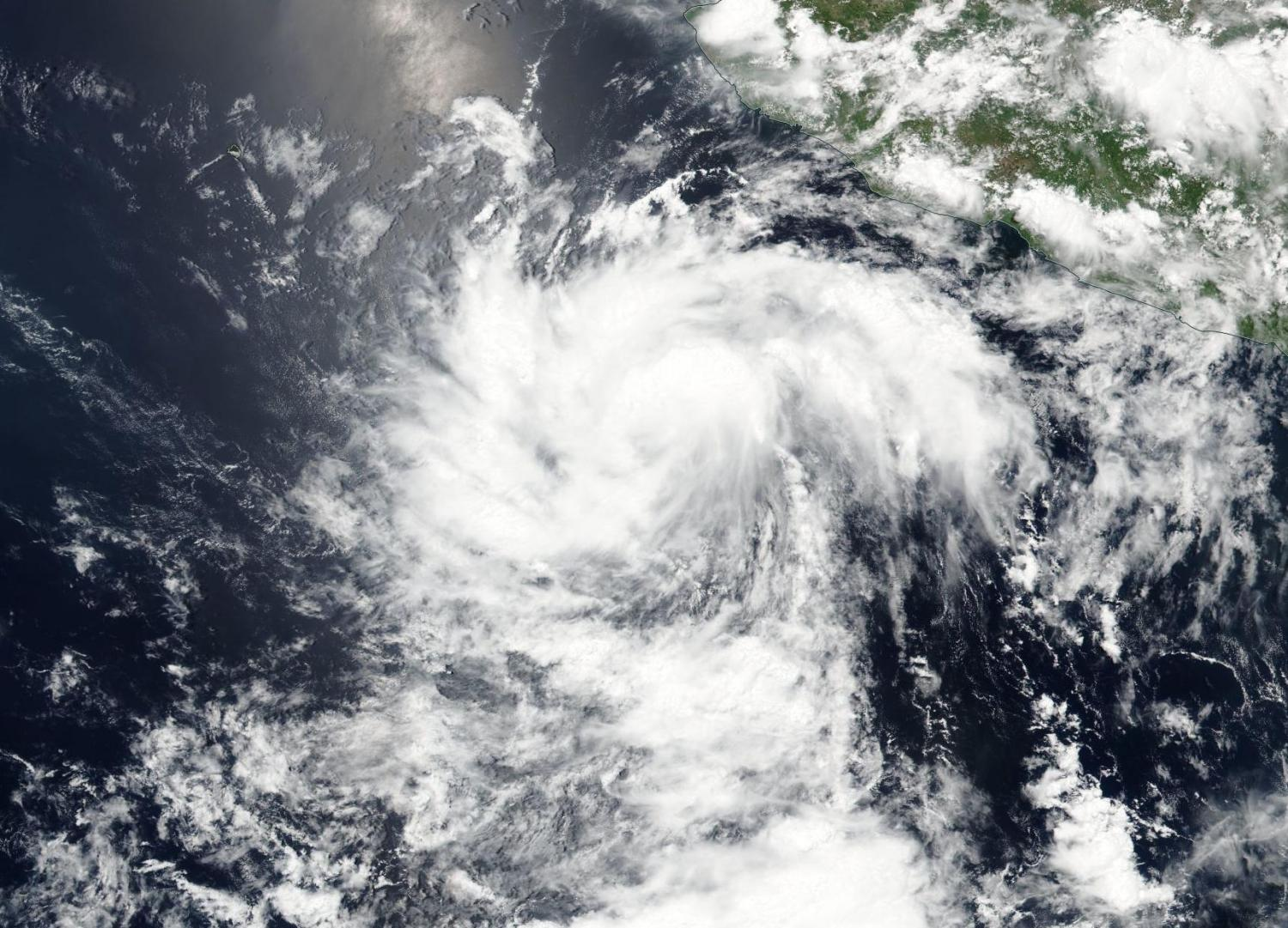 Suomi NPP satellite sees depression becoming Tropical Storm Darby