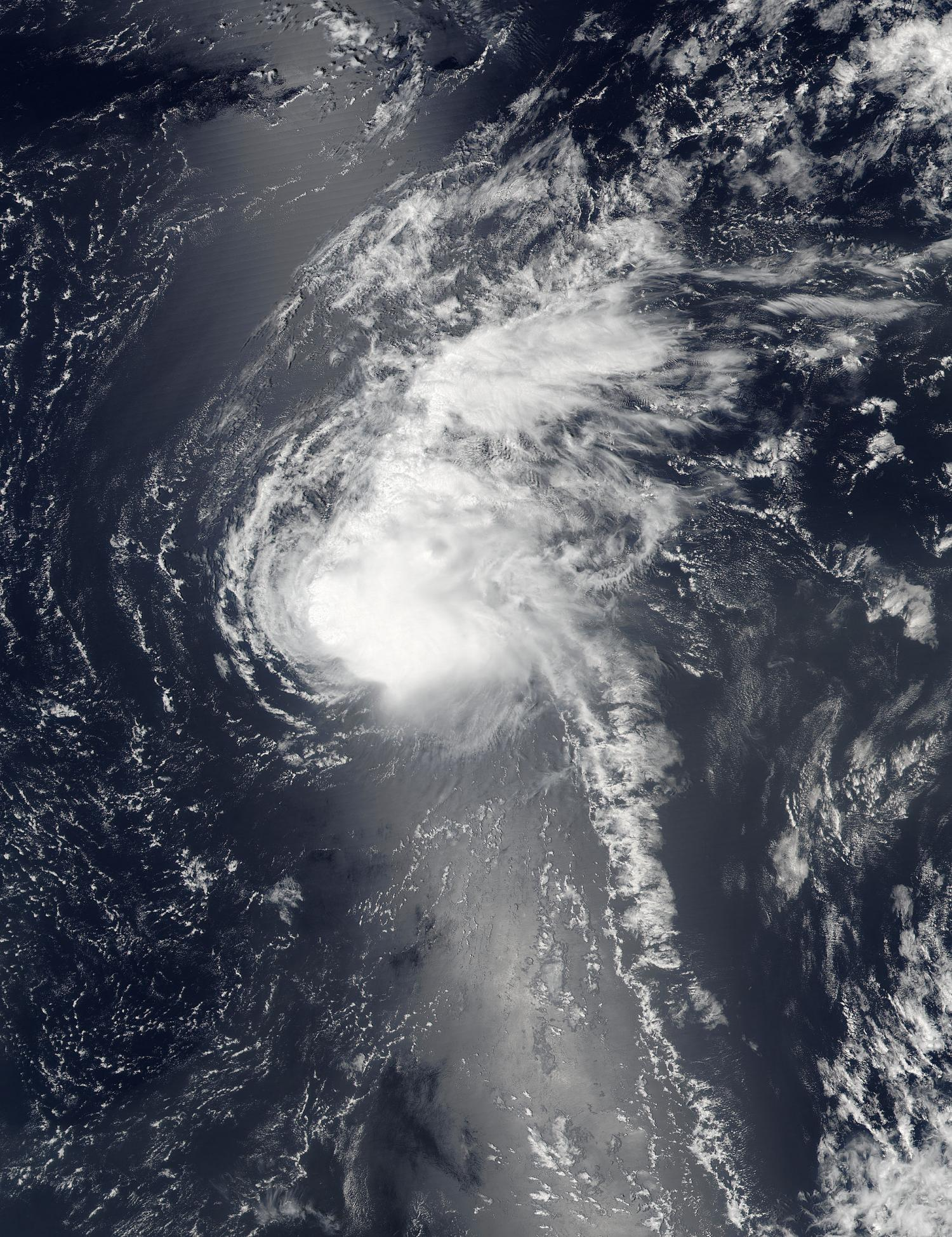 NASA sees Tropical Storm Fiona weakening from wind shear