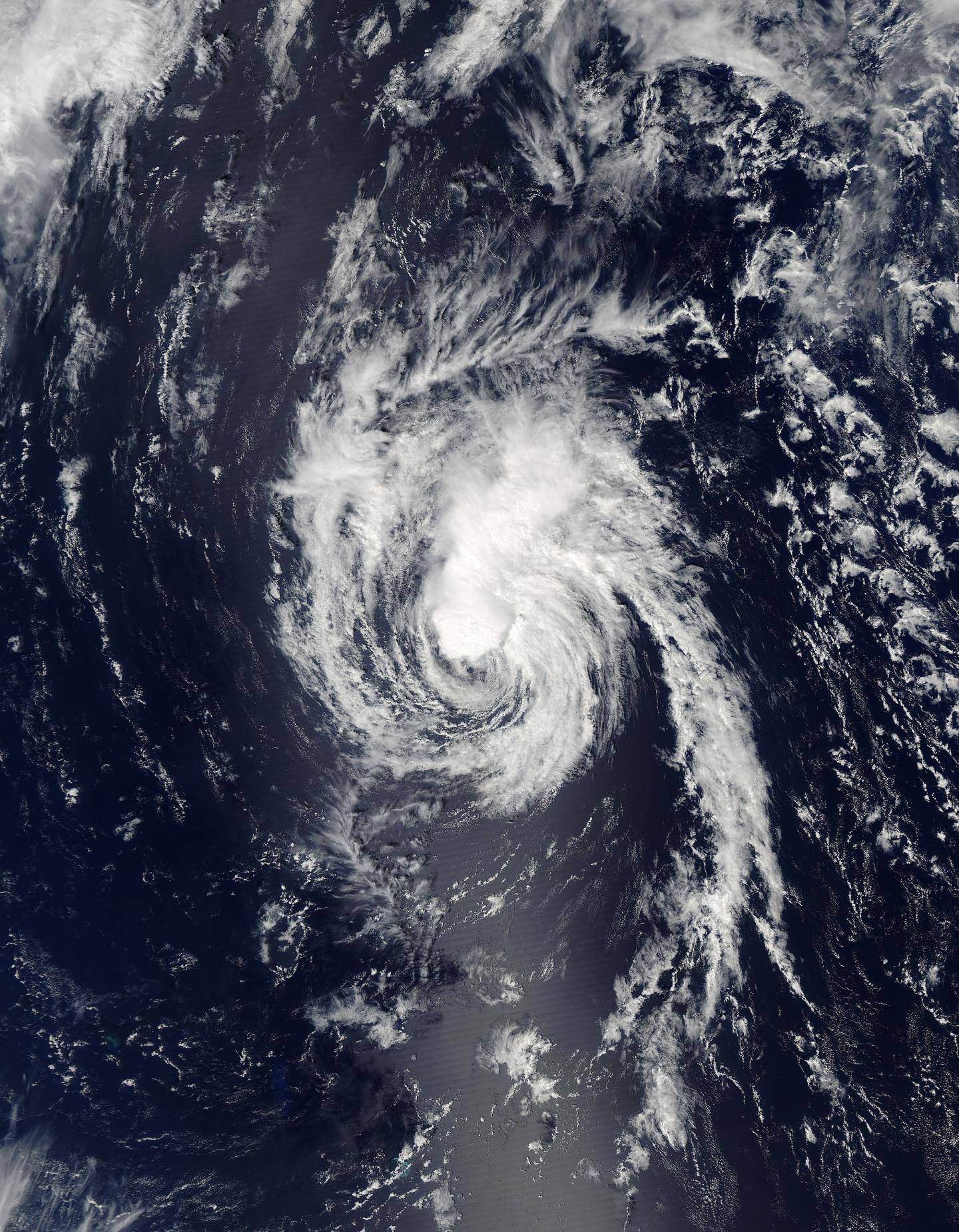 NASA's Aqua satellite captured this image of Tropical Storm Lester in ...