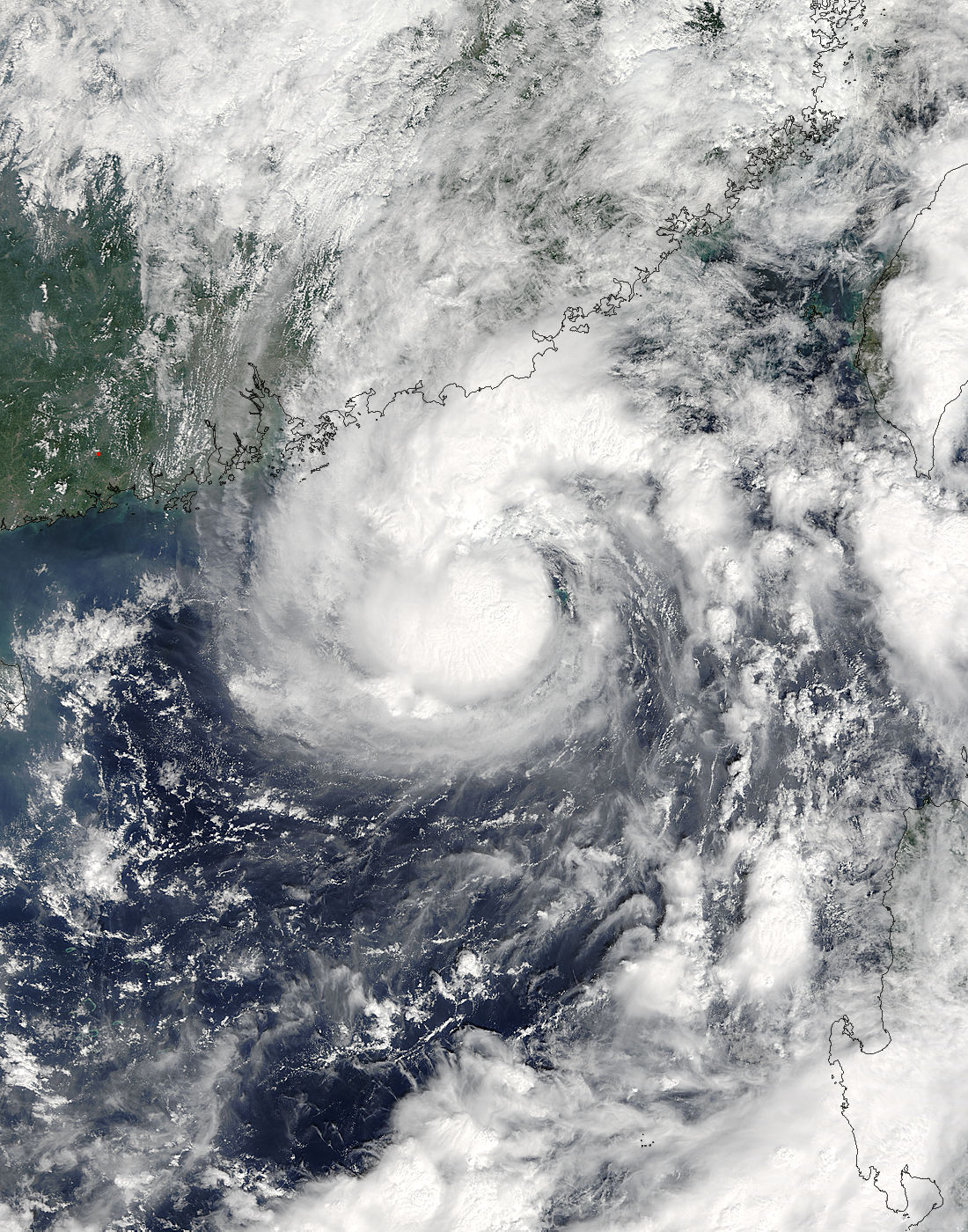 NASA's Terra satellite captured this visible image of Tropical Storm ...