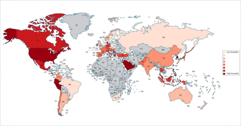 Saudi, UAE and Kuwait ranked among most empathetic countries