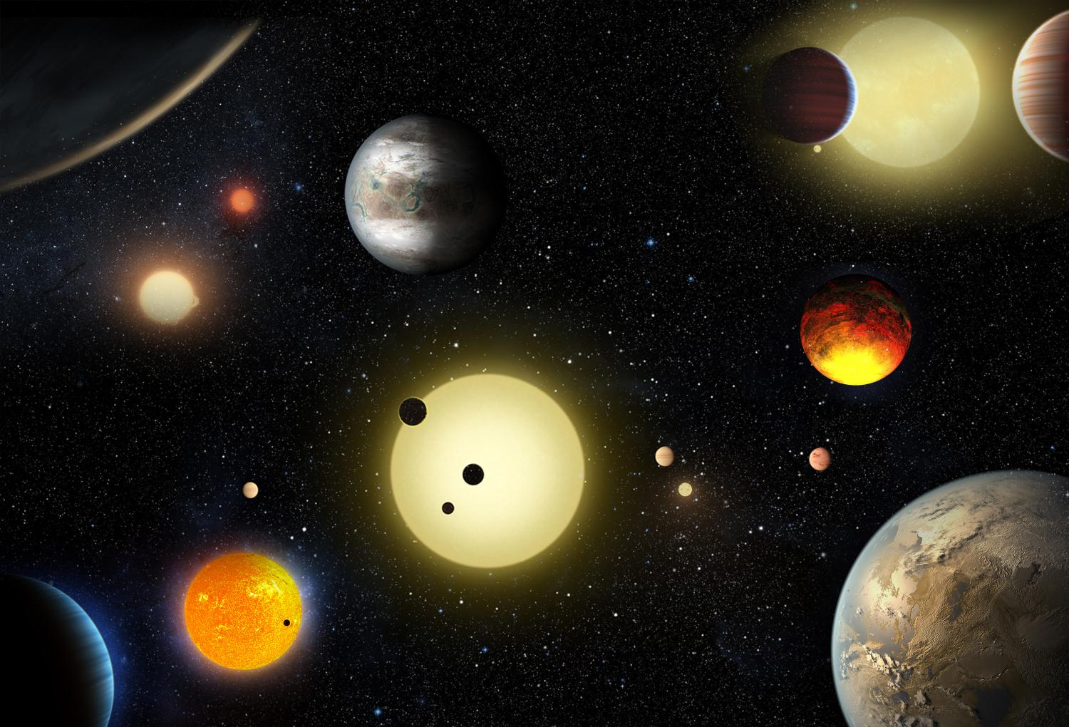 kepler mission One goal of the kepler mission is to estimate the number of planets that exist in multiple-star systems (courtesy nasa/wendy stenzel.