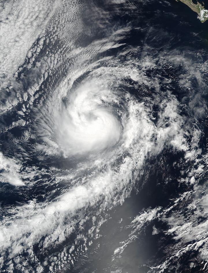 ... Hurricane Orlene in the Eastern Pacific Ocean. Credit: NASA Goddard