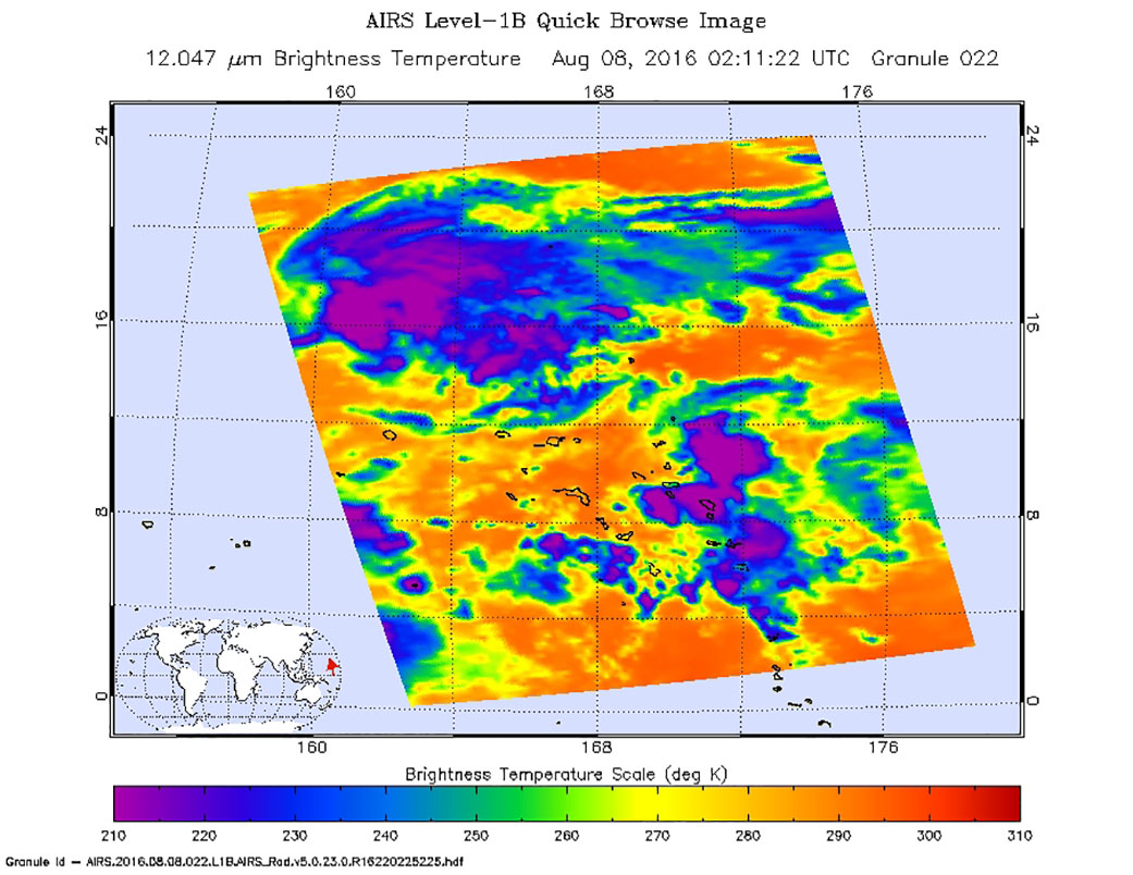NASA gets an infrared look at newly formed Tropical ...