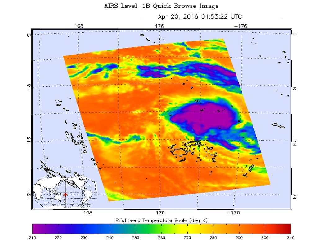 NASA sees birth of Tropical Cyclone 20P, threatens American Samoa