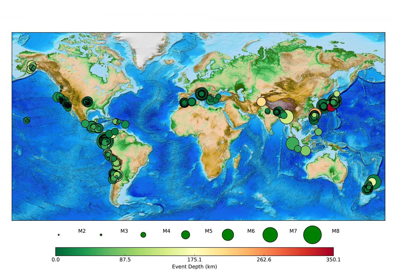 Quake-detection app captured nearly 400 temblors worldwide