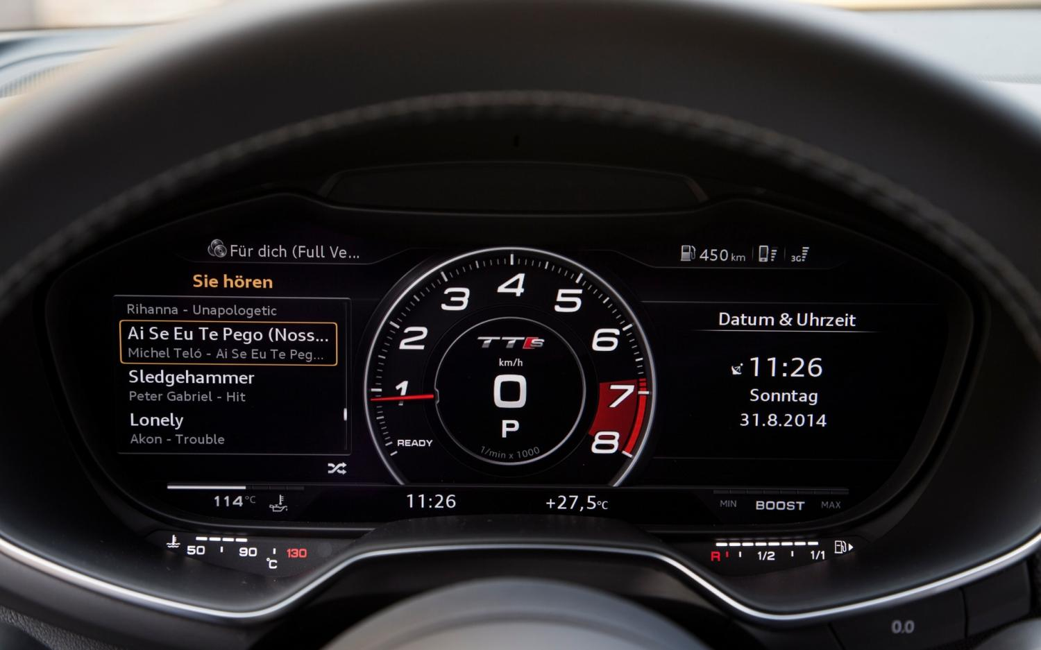 Audi A8 2017 Interior >> Review: Audi TT's Virtual Cockpit is the future of dashboards