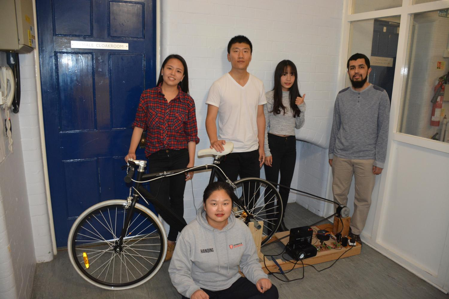 Students produce pedal powered cinema