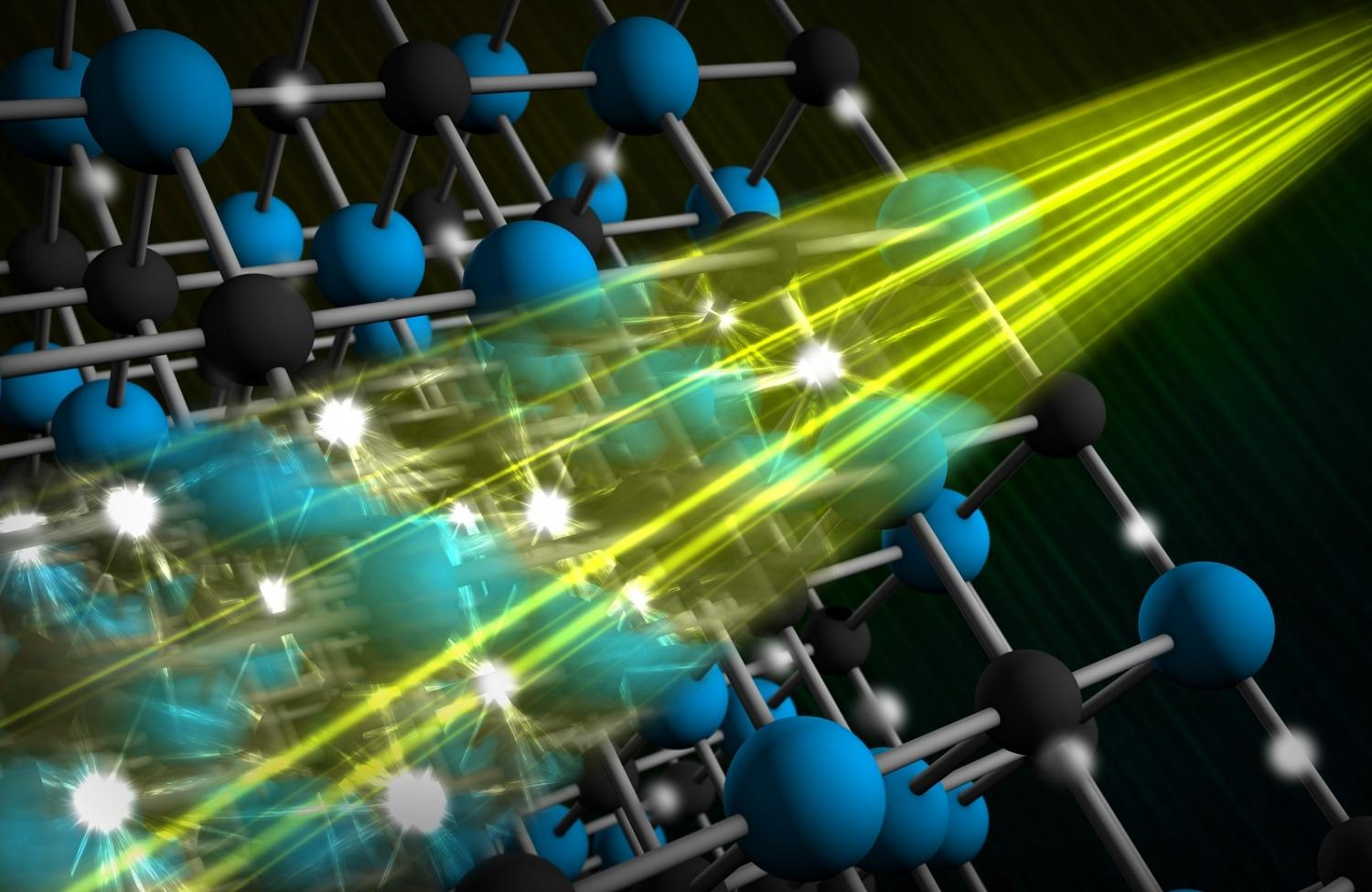 X-ray laser glimpses how electrons dance with atomic nuclei in materials