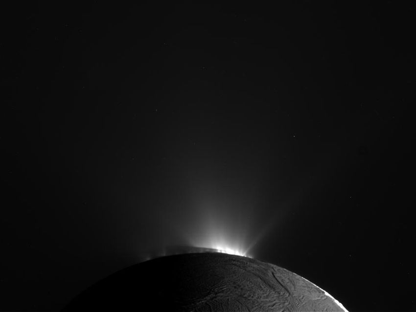 Enceladus Moon Surface From The Moon 39 s Surface