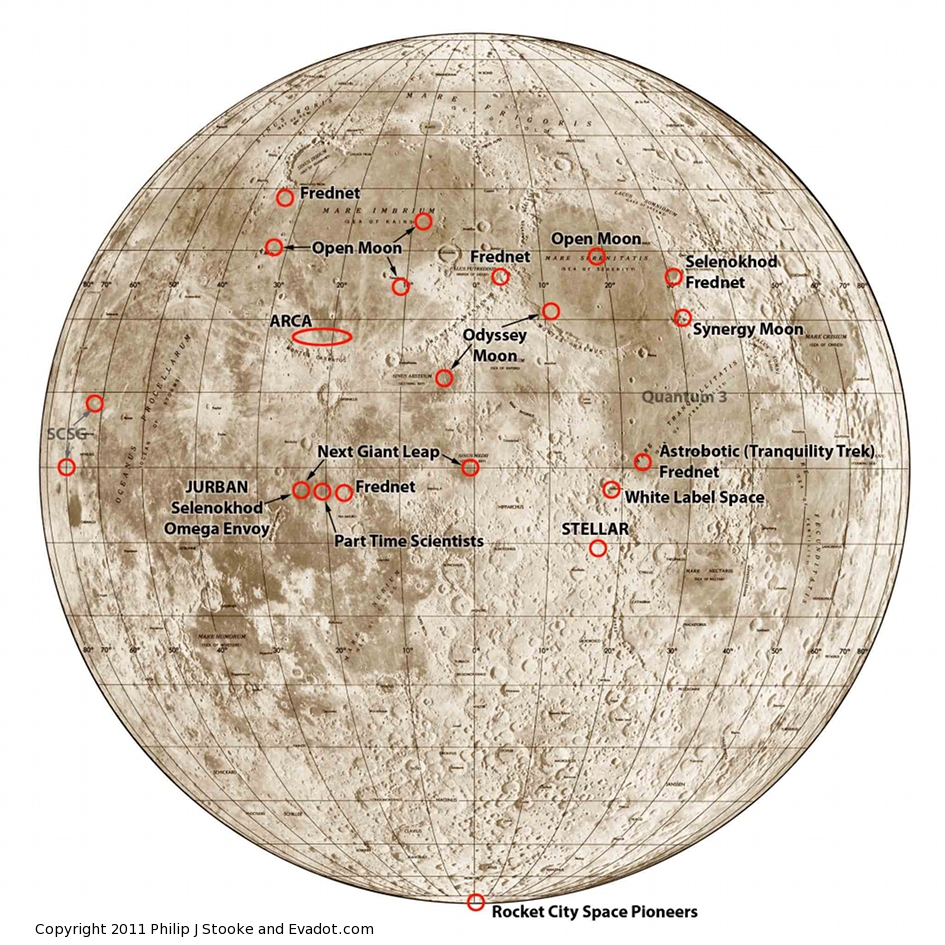 map of moon landings - photo #20