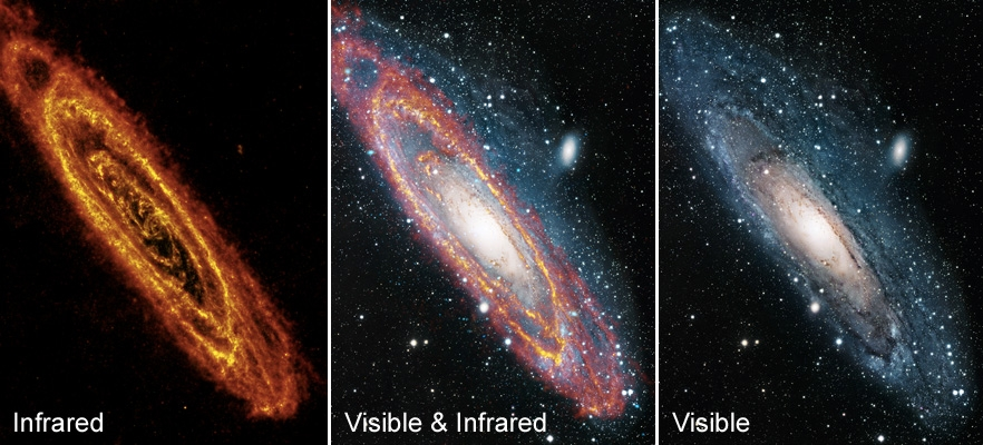 Real Galaxies in Visible Light - Pics about space
