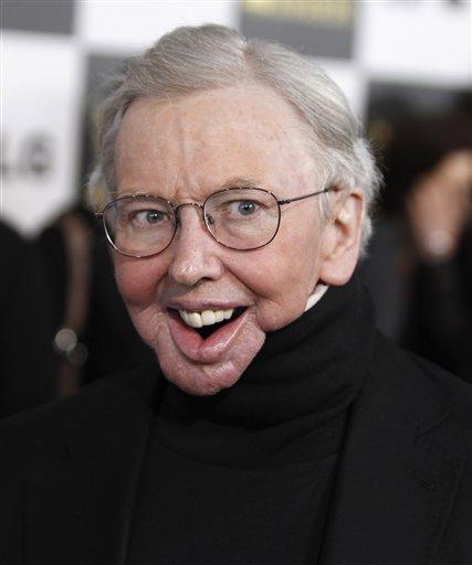 Roger Ebert Face. Roger Ebert arrives at the