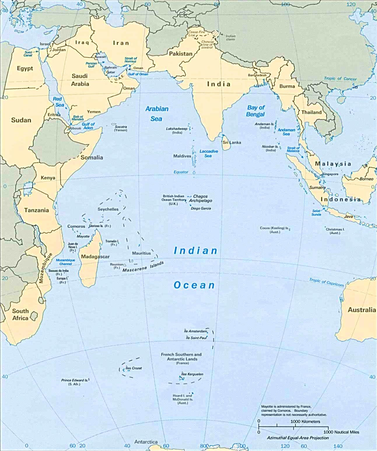 Sea levels rising in parts of Indian Ocean, according to ...
