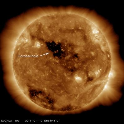 Holes in the Sun's corona