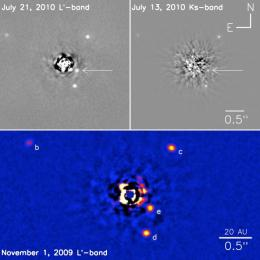 First four exoplanet systems imaged