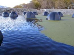 Igloo-shaped 'Poo-Gloos' eat sewage