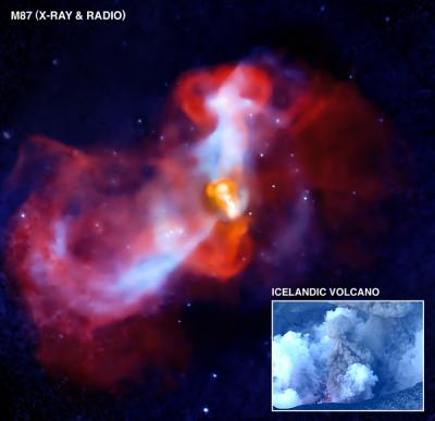 Image: Galactic Super-volcano in Action