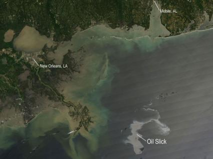Image: Oil Slick Spreads off Gulf Coast
