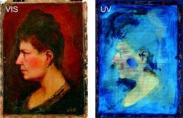 Imaging method for eye disease used to eye art forgeries