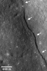 Incredible shrinking moon is revealed by the Lunar Reconnaissance Orbiter