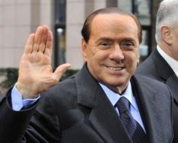 Italian Prime Minister  Silvio Berlusconi arrives at the EU summit