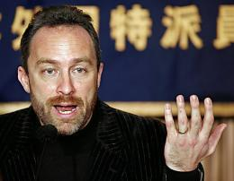 Jimmy Wales, co-founder of online collaborative encyclopedia Wikipedia.