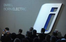 Journalists and other guests attend the presentation of BMWi