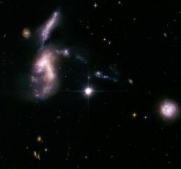 Jurassic Space: Ancient Galaxies Come Together After Billions of Years