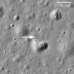 Lost Reflector Found on the Moon