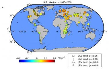NASA study finds Earth's lakes are warming