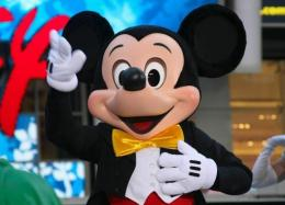 Mickey Mouse attends the grand opening of the Times Square Disney Store in New York