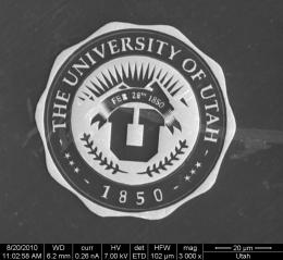 Engineer shrinks 'U' logo