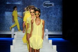 Models walk the runway at the Lacoste Spring 2010 Fashion Show in New York