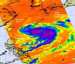 NASA eyes Typhoon Fanapi approaching Taiwan