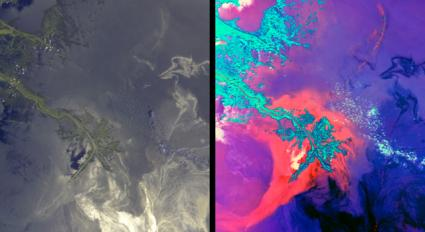 NASA Images Show Oil's Invasion Along Louisiana Coast