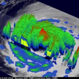 NASA's 3-D look into Hurricane Igor's heavy rainfall