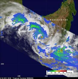 NASA sees heavy rains in Tropical Storm Bingiza, possibly headed for second landfall