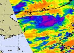 NASA sees strong thunderstorms in potential tropical cyclone near Hong Kong