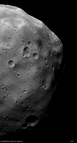 Phobos flyby images