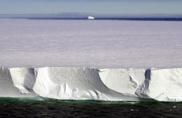 Photo illustration of a massive iceberg