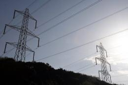 Power lines near a Nuclear Power Station