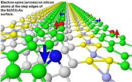 Prediction of intrinsic magnetism at silicon surfaces  could lead to single-spin magnetoelectronics