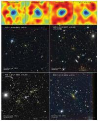 Rutgers, Chilean astrophysicists discover new galaxy clusters revealed by cosmic 'shadows'