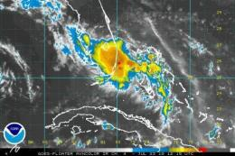 Satellite image of tropical storm Bonnie