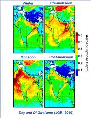 Seasonal pollution changes over india tracked by NASA